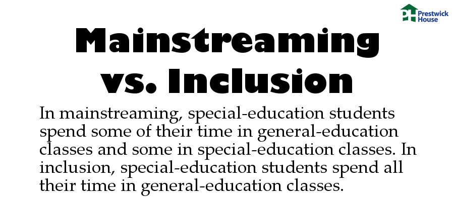 The Dictionary of Education Terms -- Mainstreaming vs. Inclusion