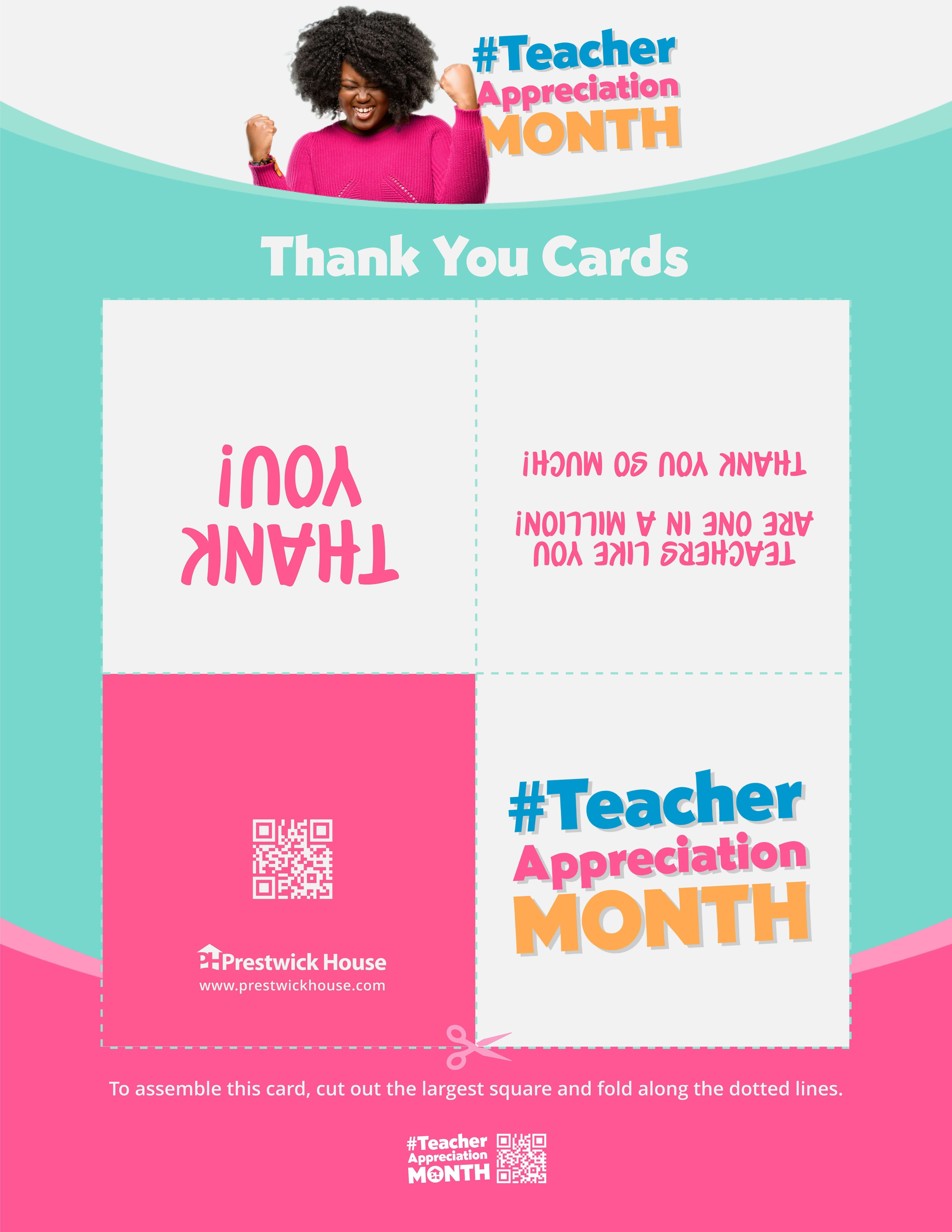 Teacher Appreciation Month - Thank You Cards