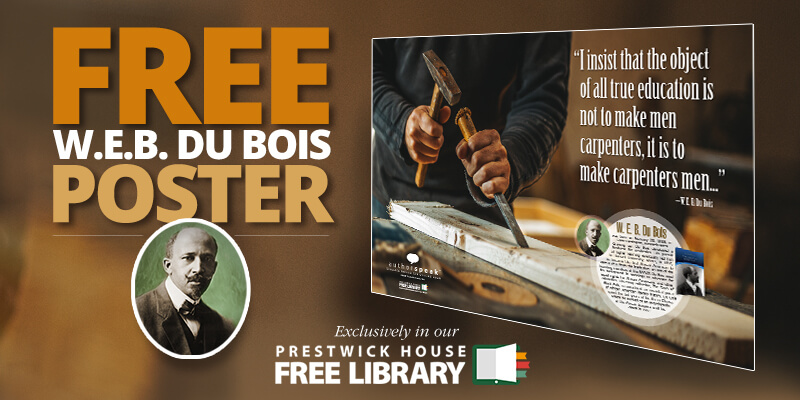 New AuthorSpeak poster: W. E. B. Du Bois