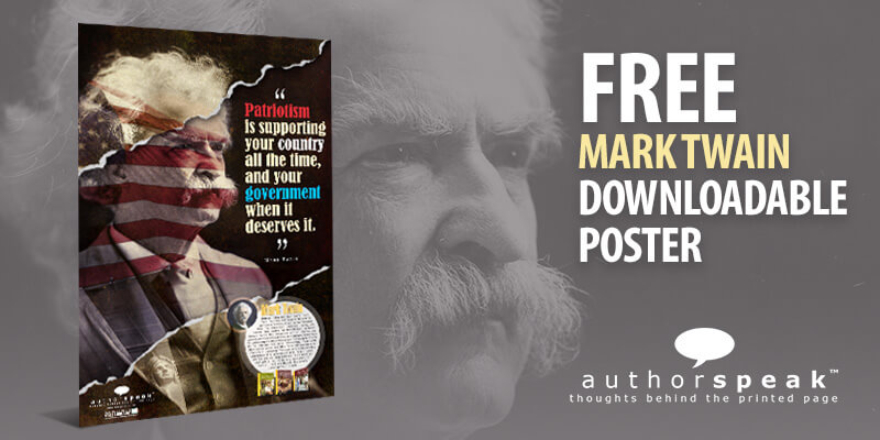 New AuthorSpeak poster: Mark Twain