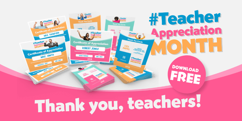 Teacher Appreciation Month Freebies