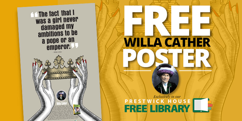 New AuthorSpeak poster: Willa Cather