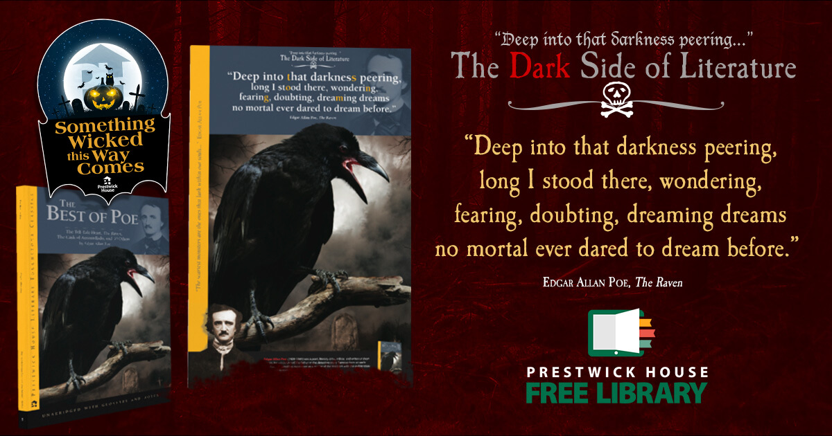 The Dark Side of Literature: The Raven Poster