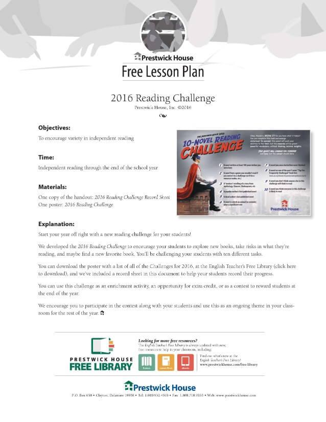 Reading Challenge Lesson Plan