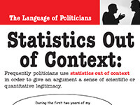 The Language of Politicians: Statistics Out of Context