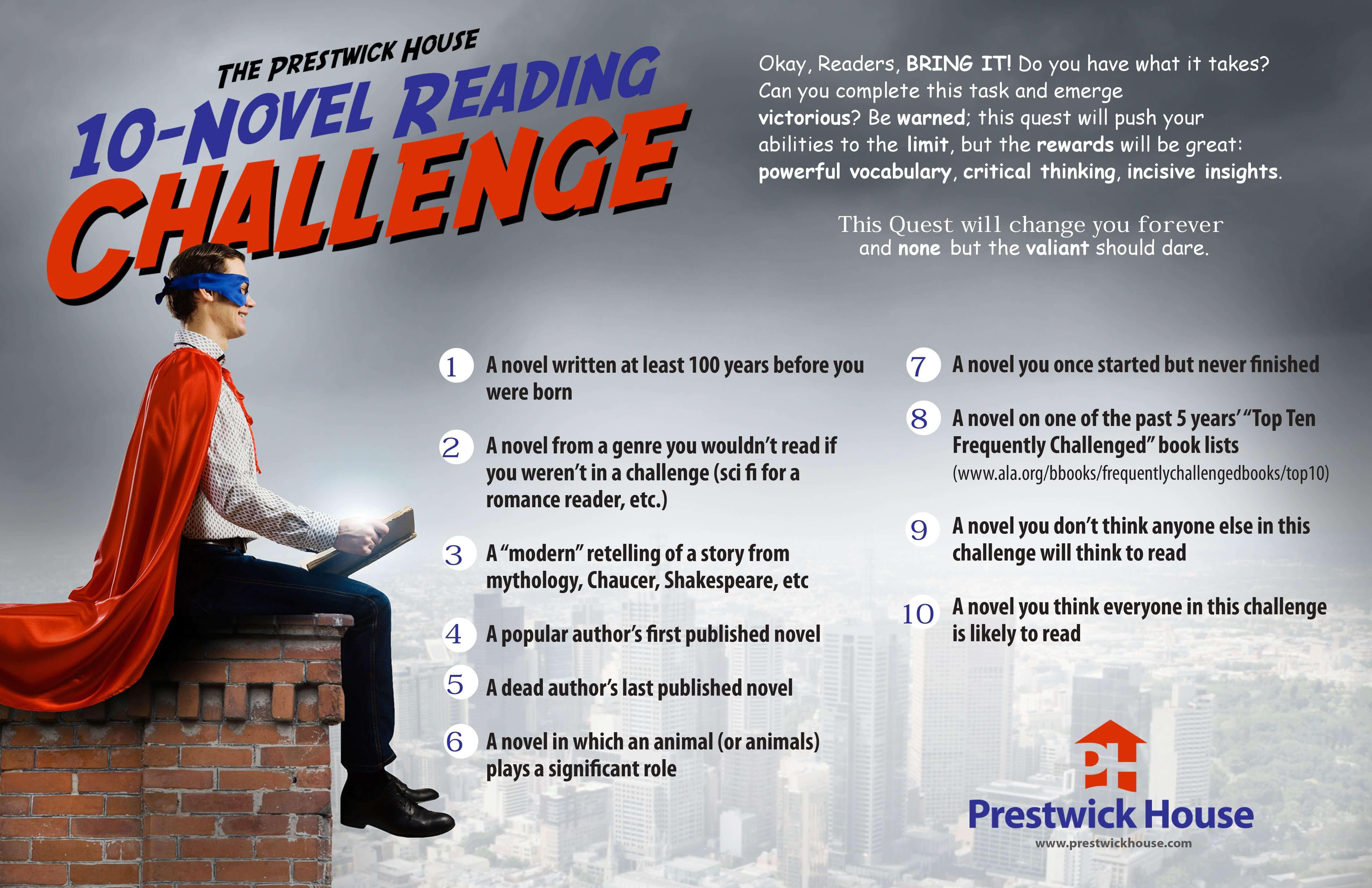 10-Novel Reading Challenge Poster