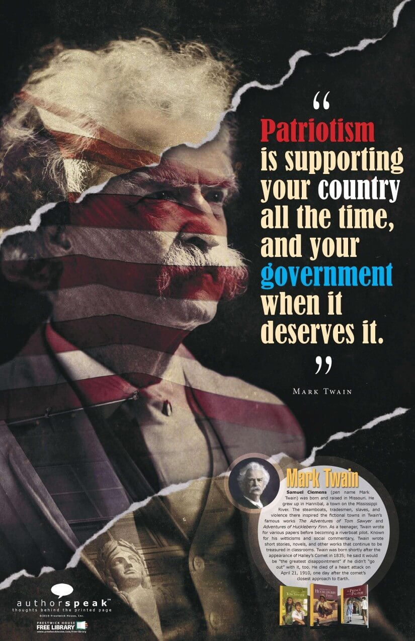 AuthorSpeak Mark Twain Poster