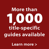 More than 1,000 title-specific Teaching Guides available