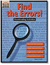 Find the Errors! Proofreading Activity Sheets