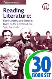 Reading Literature - Level 11 - 30 Books, Teacher's Edition, Homework and Classroom Activities