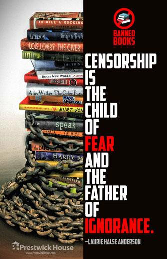 Censorship is the Child of Fear - Poster