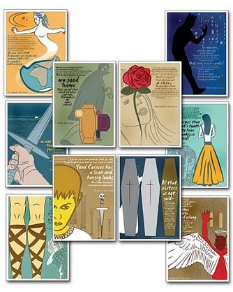 Quotable Shakespeare Poster Set
