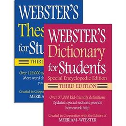 Webster's for Students Dictionary & Thesaurus Set