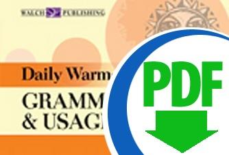 Daily Warm-Ups: Grammar and Usage: Level II - Downloadable