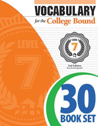Vocabulary for the College Bound - Level 7 - 30 Books and Teacher's Edition