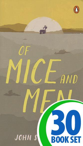 Of Mice and Men - 30 Books and Puzzle Pack (Reproducible)