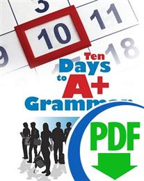 Ten Days to A+ Grammar: Commas and Apostrophes - Downloadable