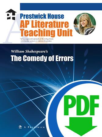 Comedy of Errors, The - Downloadable AP Teaching Unit