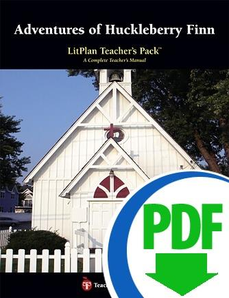 Adventures of Huckleberry Finn: LitPlan Teacher Pack - Downloadable