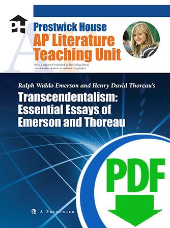 Essay Samples For High School Transcendentalism Essays Of Emerson And Thoreau  Downloadable Ap Teaching  Unit Poverty Essay Thesis also English Essay Questions Transcendentalism Essential Essays Of Emerson And Thoreau  Thesis Statement Examples For Persuasive Essays
