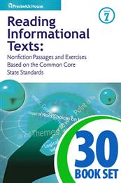 Reading Informational Texts - Level 7 - 30 Books and Teacher's Edition
