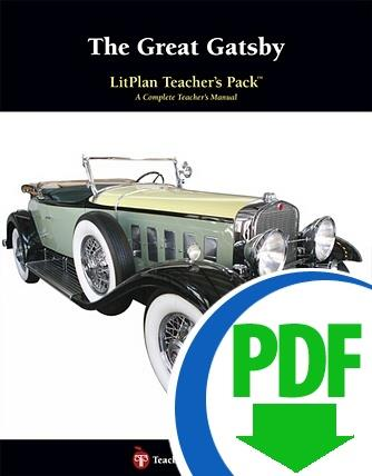 Great Gatsby, The: LitPlan Teacher Pack - Downloadable