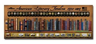 American Literary Timeline 1750-1849 Poster