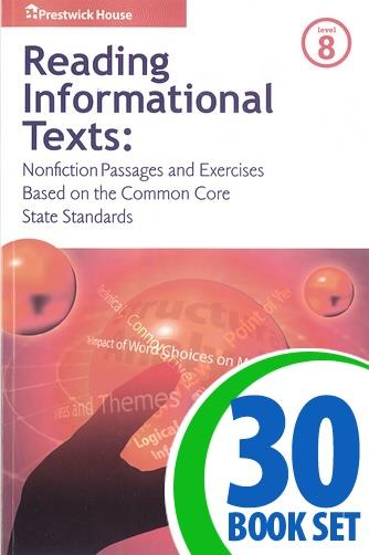 Reading Informational Texts - Level 8 - 30 Books and Teacher's Edition