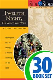 Twelfth Night - Side by Side - 30 Books and Key