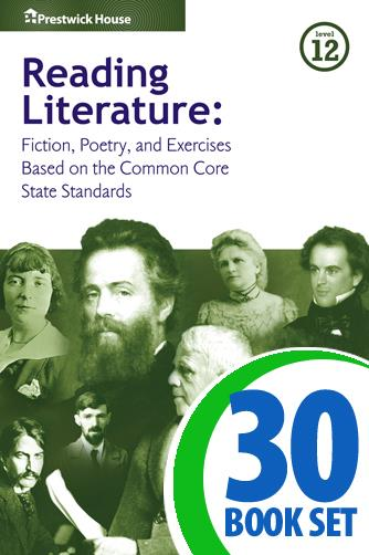 Reading Literature - Level 12 - 30 Books, Teacher's Edition, Homework and Classroom Activities