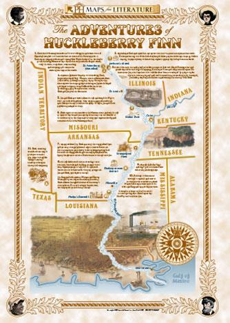 Adventures of Huckleberry Finn - Maps from Literature ...