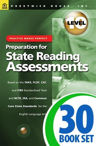 Preparation for State Reading Assessments: Practice Makes Perfect - Level 10
