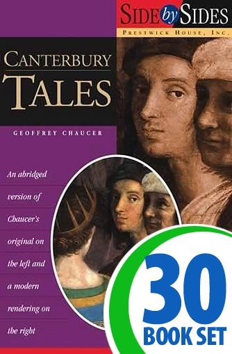 Canterbury Tales, The - Side by Side - 30 Books and Key