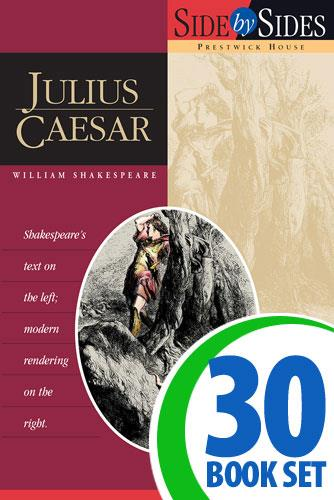 Julius Caesar - Side by Side - 30 Books and Key