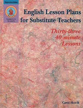 English Lesson Plans for Substitute Teachers