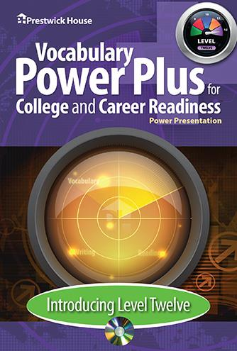 Vocabulary Power Plus for College and Career Readiness - Level 12 - Introduction Power Point