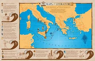 Journey of Odysseus Maps from Literature