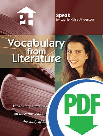 Speak - Downloadable Vocabulary From Literature