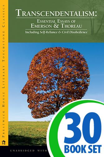 Transcendentalism: Essays of Emerson and Thoreau - 30 Books and Complete Teacher's Kit