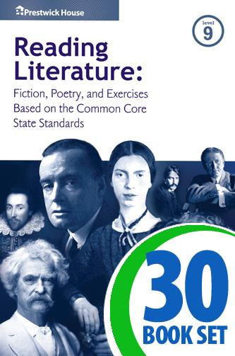 Reading Literature - Level 9 - 30 Books, Teacher's Edition, Homework and Classroom Activities
