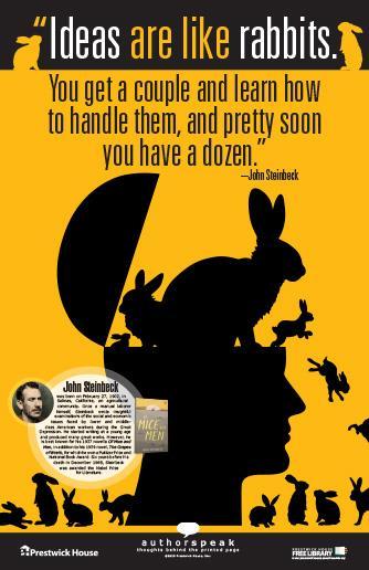 John Steinbeck Poster