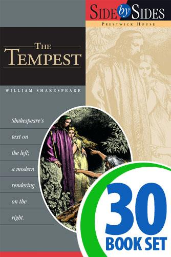 Tempest, The - Side by Side - 30 Books and Key