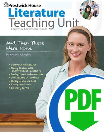 And Then There Were None Downloadable Teaching Unit Prestwick House