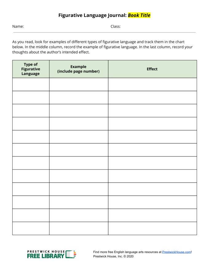 Figurative Language Journal