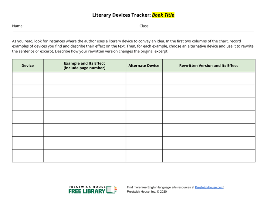Literary Devices Tracker