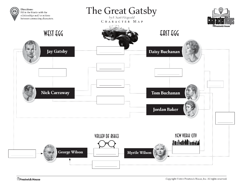 The Great Gatsby Free Character Map