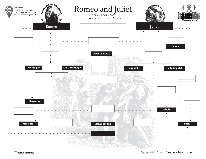 Romeo and Juliet Free Character Map