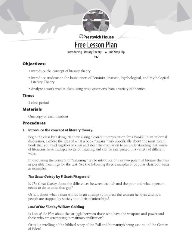 Introducing Literary Theory Lesson Plan