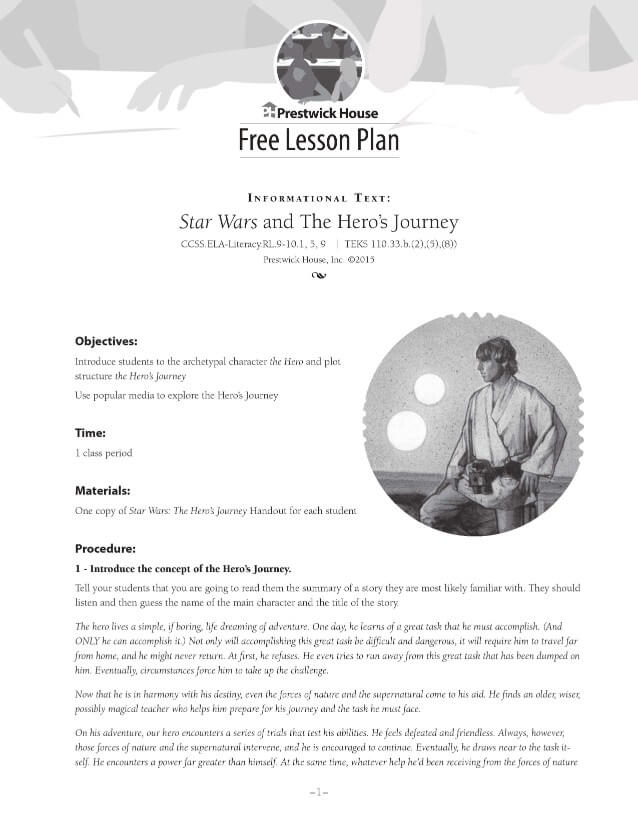 Star Wars and the Hero's Journey Lesson Plan