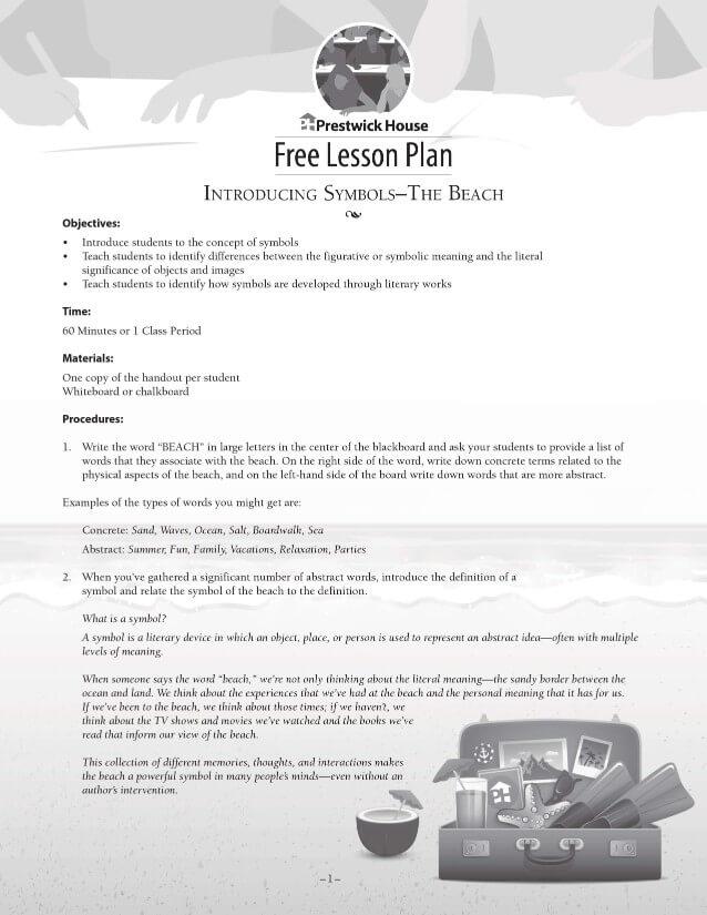Introducing Symbols: The Beach Free Lesson Plan
